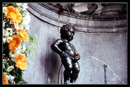"""Manneken Pis"" (Little Man Piss) in Brussels, Belgium 