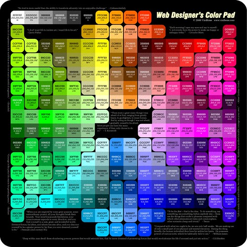 Web Designer's Color Pad | www.visibone.com/color/pad_800 ...