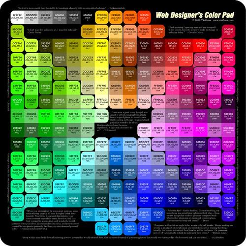 Web Designer S Color Pad Www Visibone Com Color Pad 800 Gi Flickr