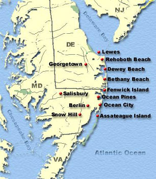 DelMarVa Map | Our beachy destination - Maryland and Delawar… | Flickr
