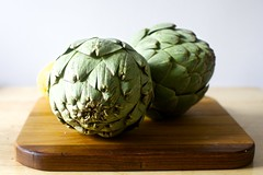 monstrously huge artichokes