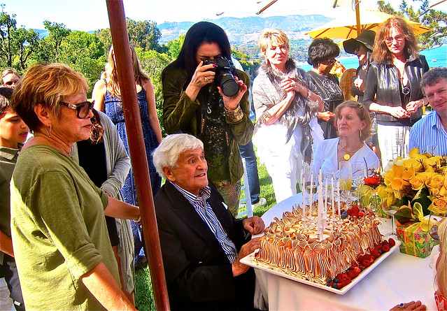 fred with birthday cake by sherry yard