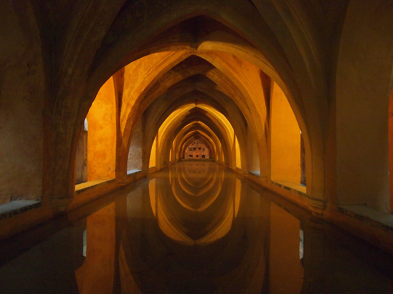 The Baths of Lady María de Padilla at the Alcazar in Seville