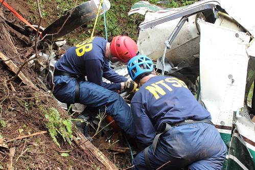 NTSB Investigators on-scene near Ketchikan, AK