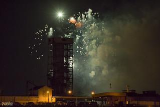 fireworks behind the conveyor tower in the old port of montreal | by Eva Blue