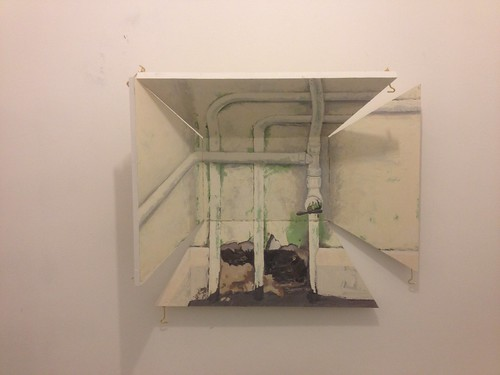Pipewerk, 2014, Oil on hinged board, 70x60x20cm | by fionalongart