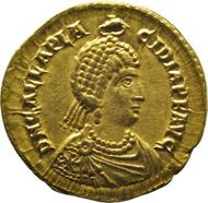 Empress Galla Placidia solidus obverse