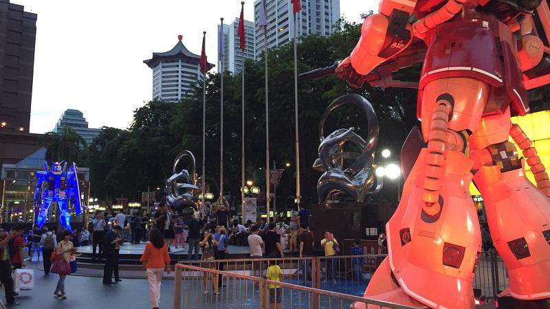 Gundam-SG-Civic Plaza Photo web