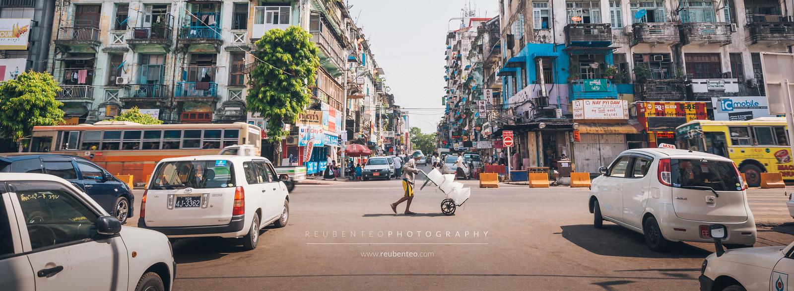 Yangon City Traffic