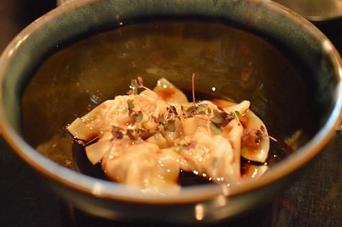 Steamed pork and umeboshi dumplings