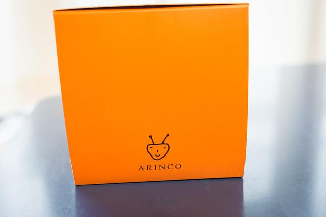 外箱に描かれたアリンコのロゴ