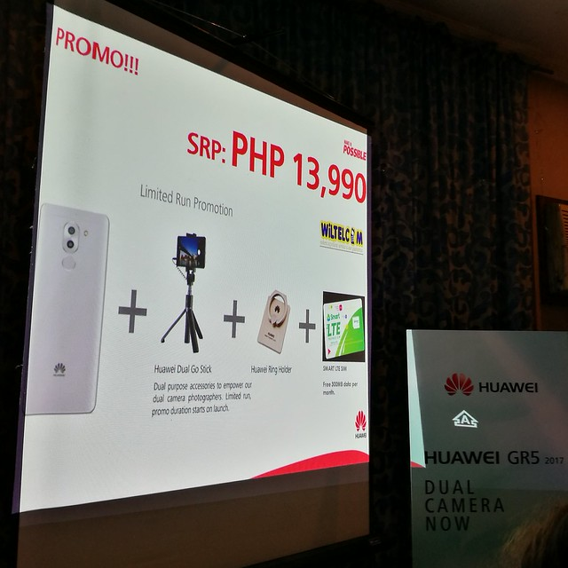 Huawei GR5 2017 limited promo SRP Php13990