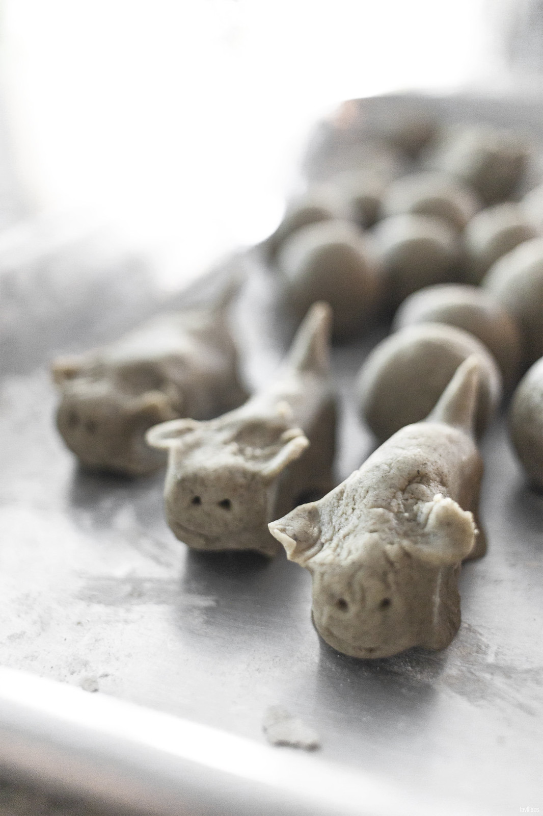 lavlilacs | Taishan Eats 台山美食 | Skunk Vine Rice Cake Balls - Foo Keen Haang Yuan - 烏芹藤圓 | Dogs