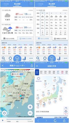 ヤフー天気アプリ リニューアル ver. 5