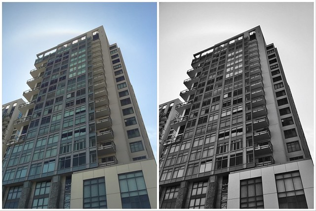 Before and After with PicTapGo - Downtown Building