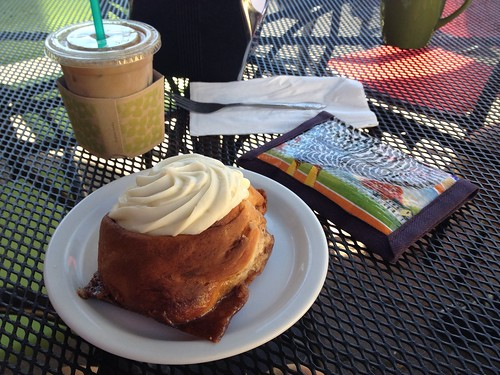 Pastry and iced coffee in Vernonia