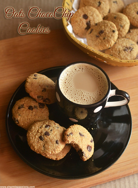 Oats Choco Chip Cookies Recipe