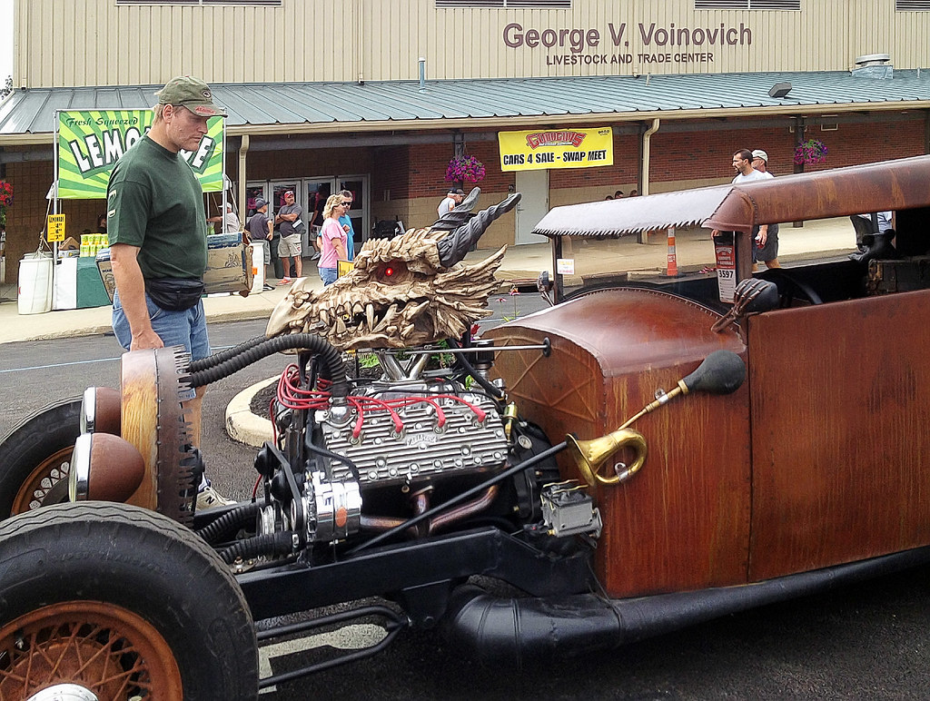 Skeleton rat rod | One of the more unique rat rods at the sh… | Flickr