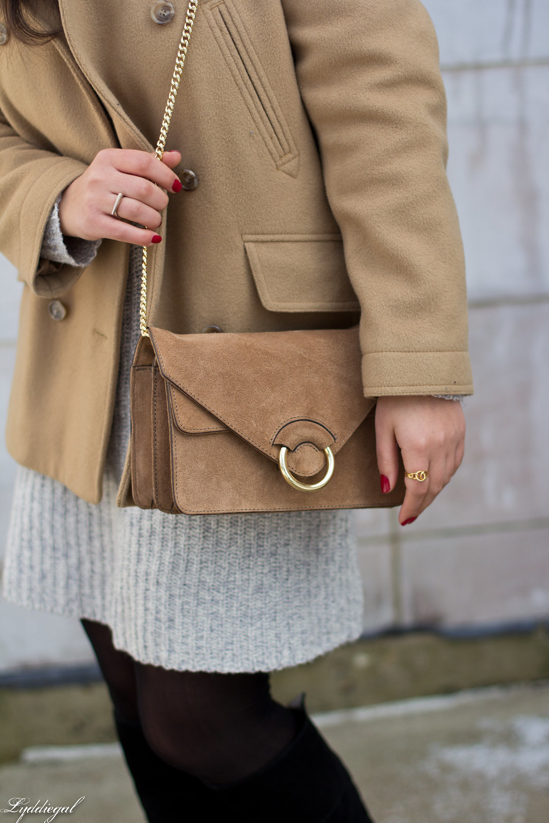 grey sweater dress, camel peacoat, black boots, winter outfit-8.jpg
