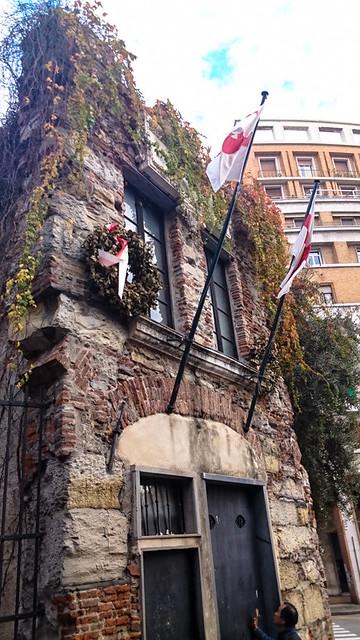 コロンブスの生家があったとされる場所に復元された建物