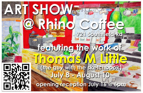 Thomas Little exhibit, Rhino Coffee