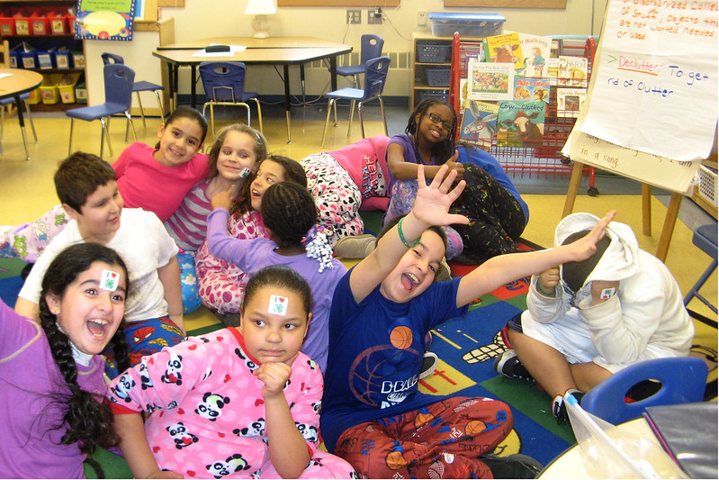 4-H'ers show their enthusiasm during a lesson about clutter