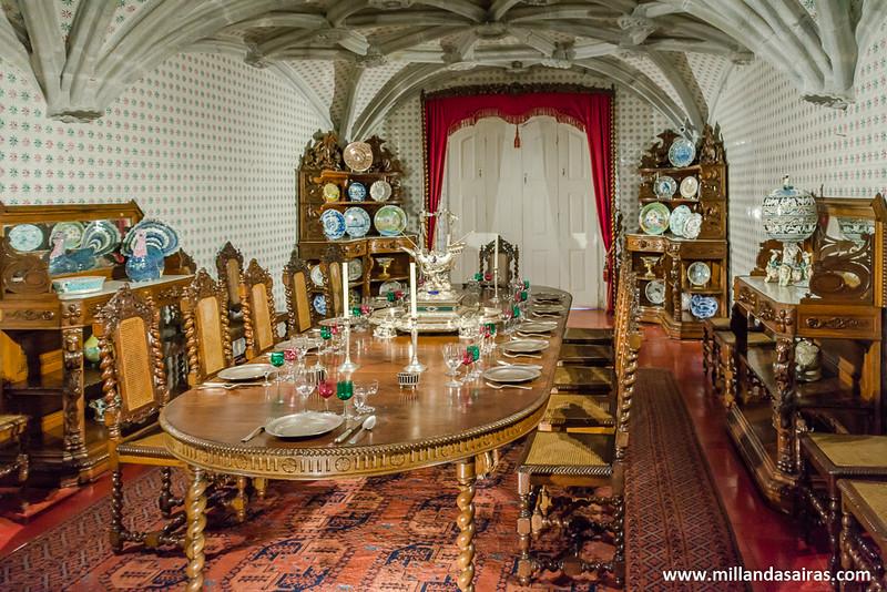 Comedor en el interior del Palacio