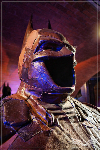 The Establishing Shot: BATMAN: ARKHAM KNIGHT CAPE & COWL EXHIBITION - WHAT MADE YOU THINK I NEED TO BE SAVED MASK DETAIL BY ELIZA DOOLITTLE - KACHETTE, LONDON