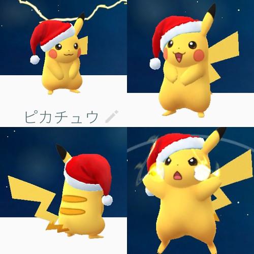 サンタ ピカチュウ ポケモンGO 2016.12.13