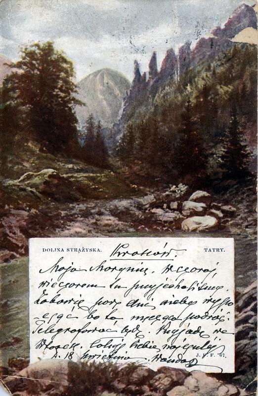Carte postale envoyé de Zakopane avant 1914.