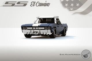 '69 Chevy El Camino - 10-wide - Lego