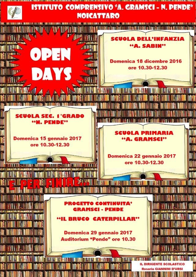 Noicattaro. Open Day Gramsci-Pende intero
