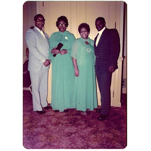"On reverse of print: ""Dec 1976"" #foundphotos #found #Chicago #photooftheday #film #archive #vintagestyle #vintage #bluedress #suit #formalwear"