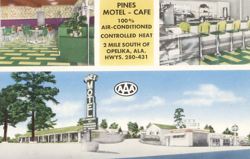 Pines Motel-Cafe - Opelika, Alabama