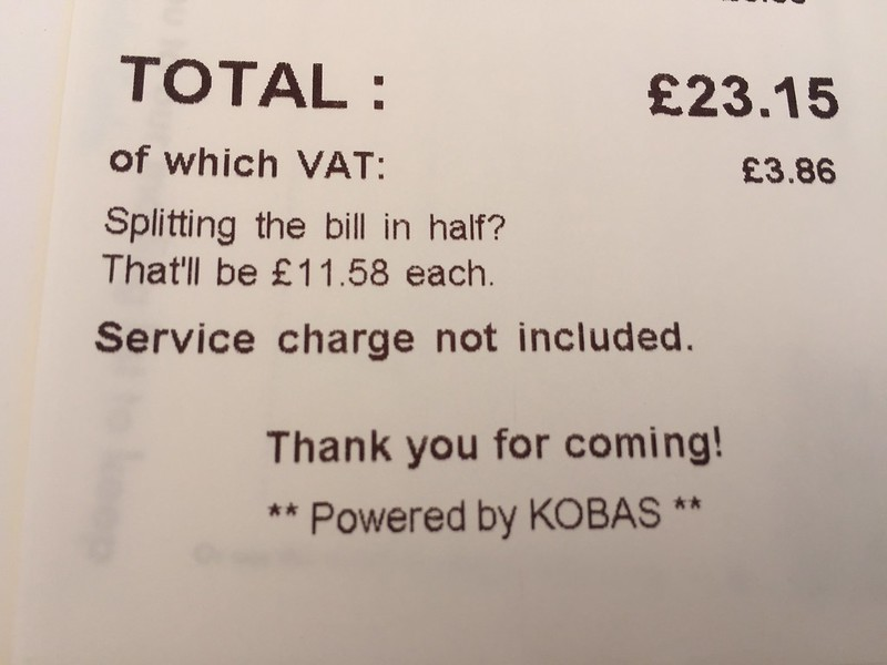 Half the bill calculation - nice touch