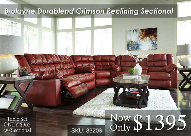 Brolayne Crimson Sectional