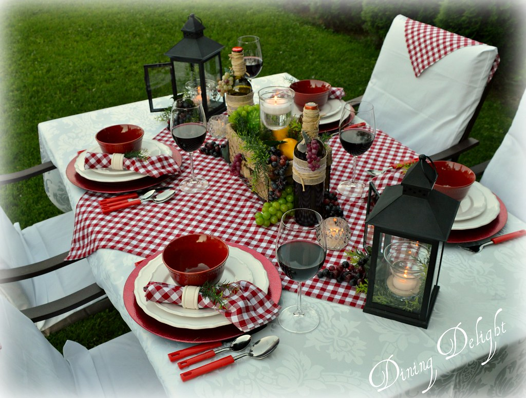 Italian Themed Table Setting | Italian Wine Themed Tablescap… | Flickr