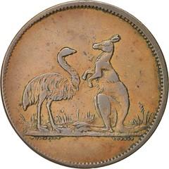 1850s Advance Australia Penny Token reverse