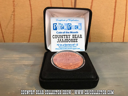 2016 Disney Park Pack Country Bear Jamboree Coin - Country Bear Jamboree Collector Show #81