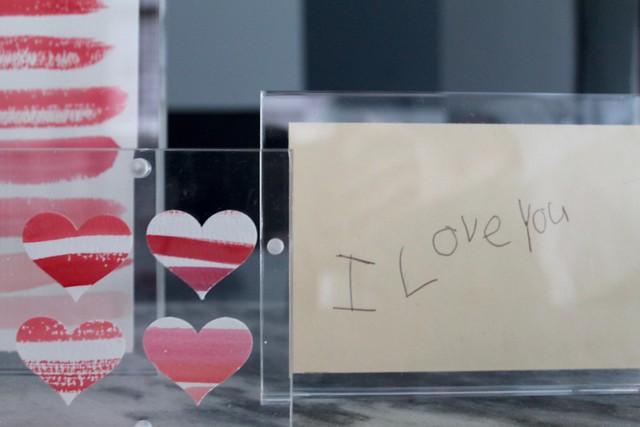 DIY Valentine Art + Lucite Frames