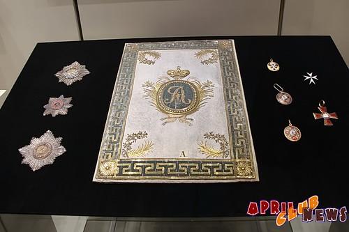 Витрина с личными вещами Александра I