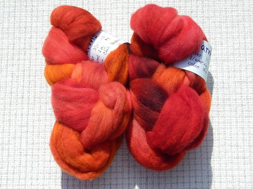 Cloverleaf Farms Merino, colorway Chili Peppers