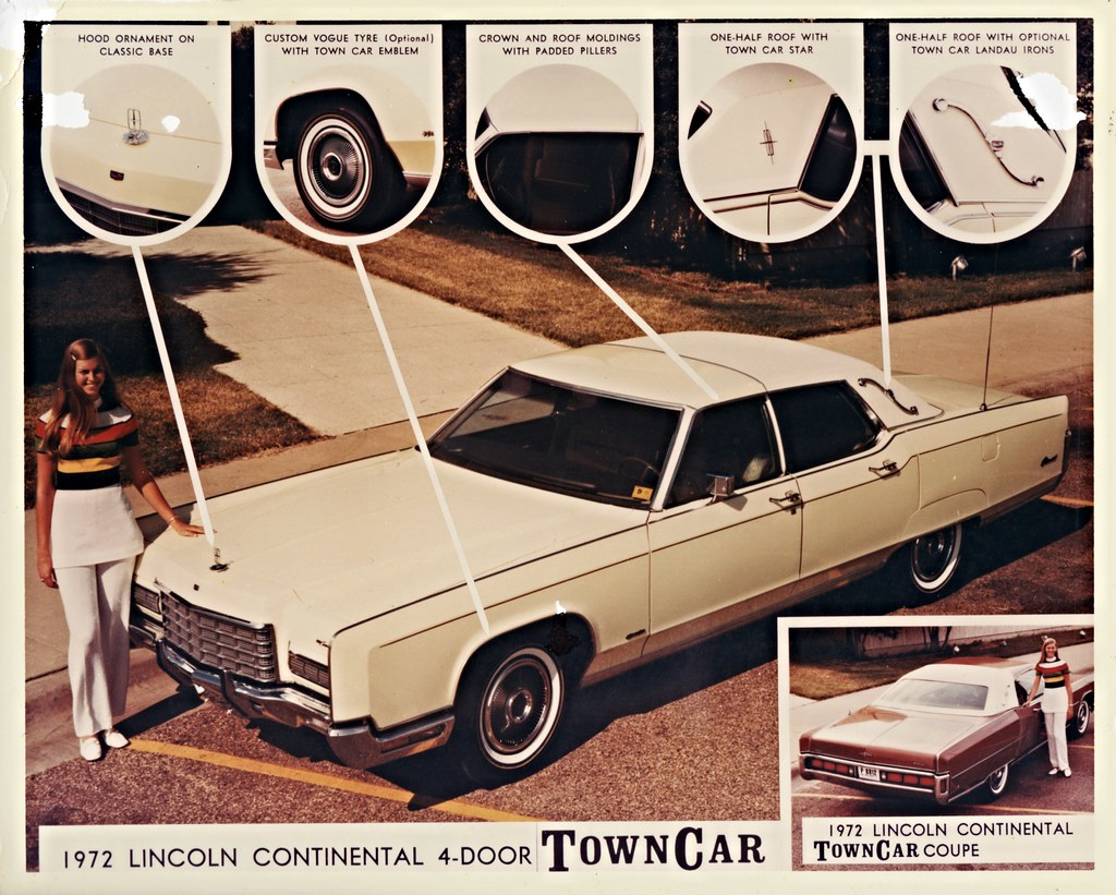 1972 Lincoln Continental Town Car 4 Door And Coupe By Eagl Flickr