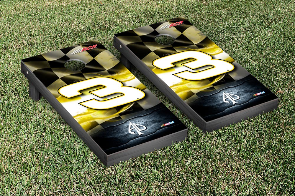 AUSTIN DILLON #3 CORNHOLE GAME SET RACING FLAG VERSION