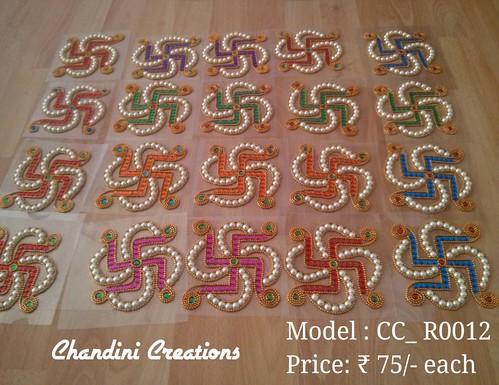Chandhini creations kundan work