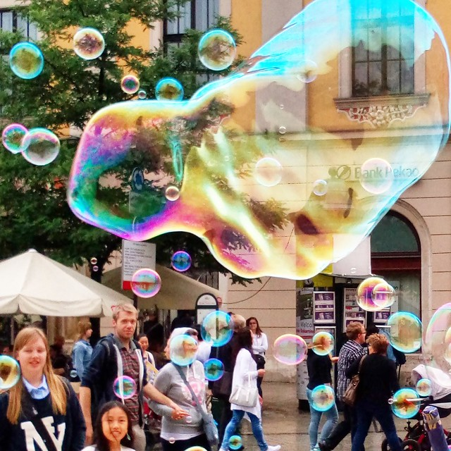 Soap bubbles, Cracow Main Square