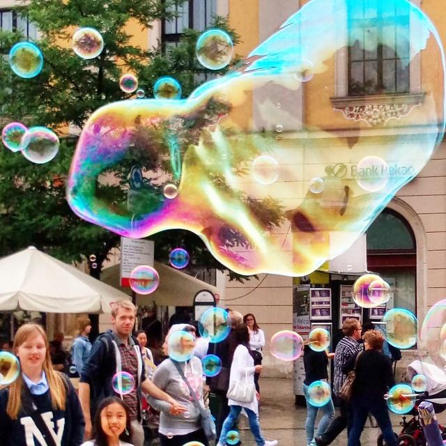 Soap bubbles, Cracow Main Square
