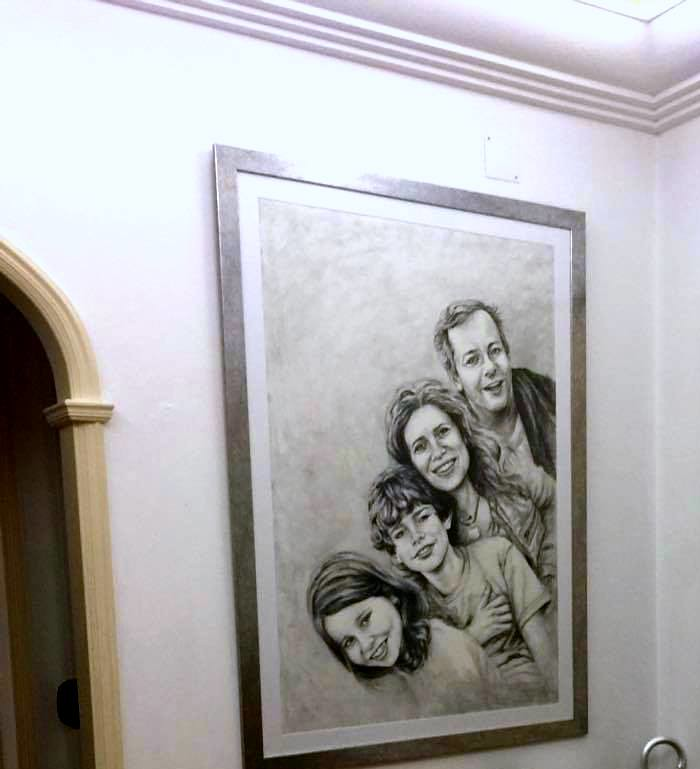 family portrait framed client photo family portrait draw flickr