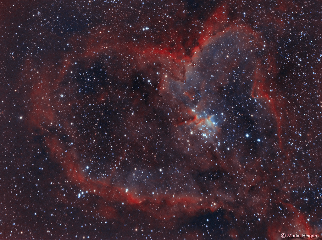 The Heart Nebula (IC 1805) | A Bi-Color image of the Heart ...