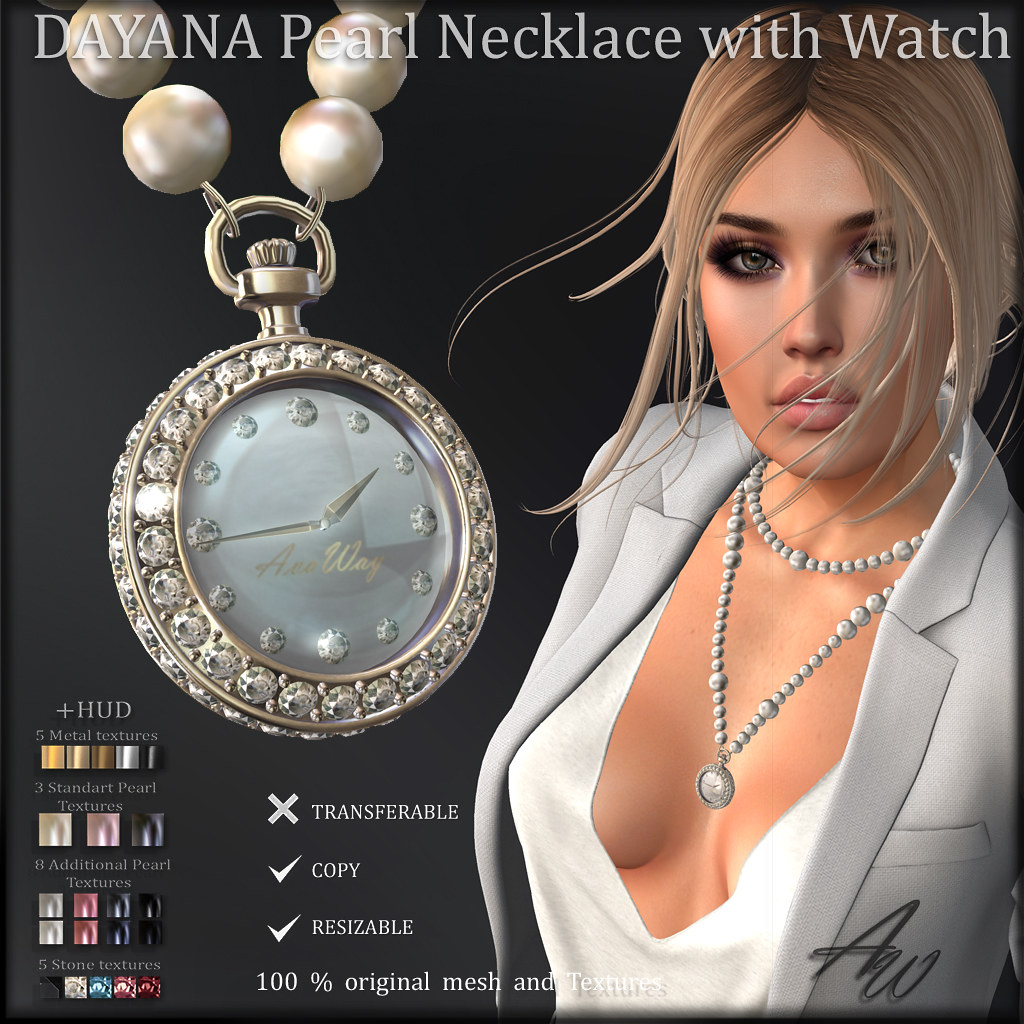 DAYANA Pearl Necklace with Watch ads SOON